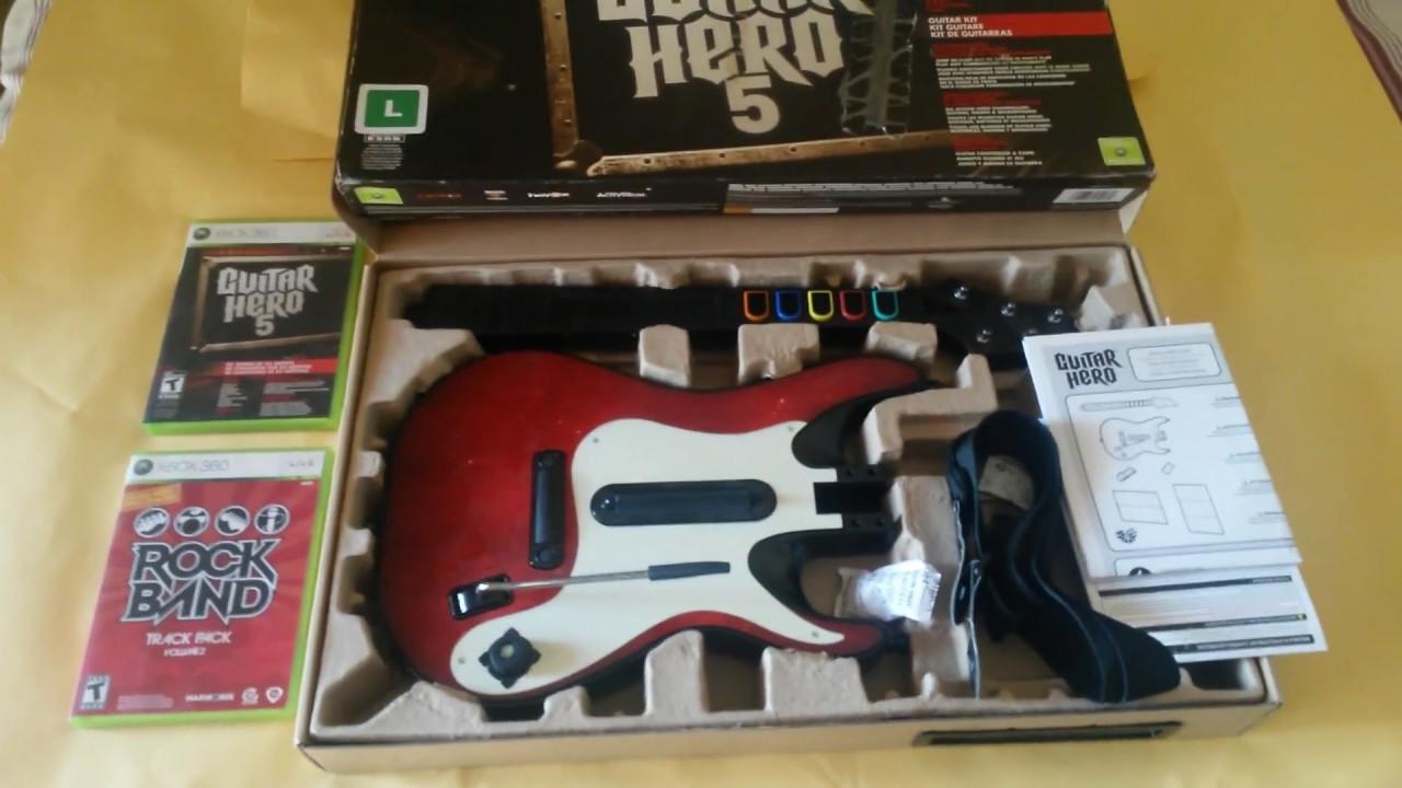 jogo guitar hero 5 xbox 360 c guitarra sem fio jogo rock band youtube. Black Bedroom Furniture Sets. Home Design Ideas