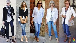 How to wear jeans after 50 and not seem ridiculous and cheap?