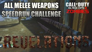 REVELATIONS ★ ALL MELEE WEAPONS SPEEDRUN ★ Black Ops 3 Zombies
