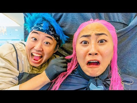 I LET HIM DYE MY HAIR!! (gone wrong)