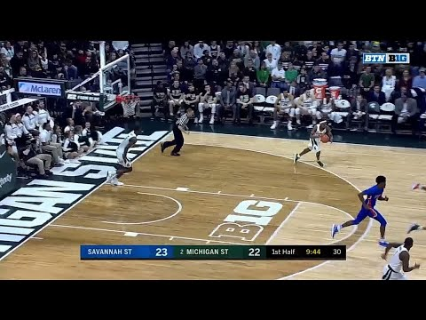 Nick Ward Two-Handed Jam vs. Savannah State
