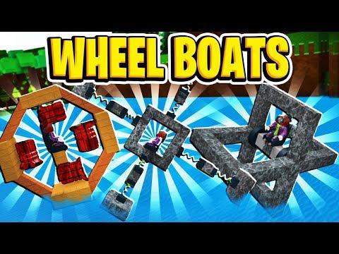 MORE CRAZY Wheel Boat Designs In Build A Boat For Treasure In Roblox