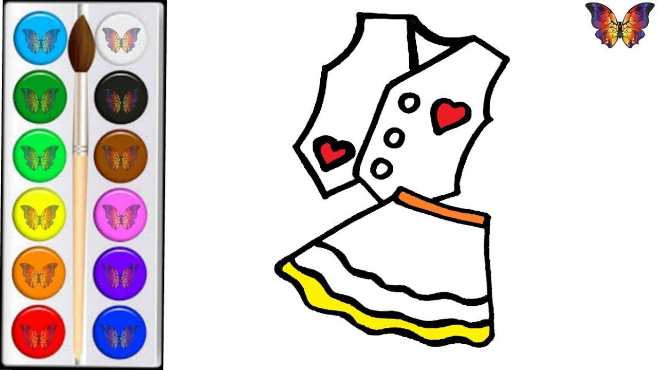 Как нарисовать ОДЕЖДУ / мультик раскраска ОДЕЖДА для детей ...