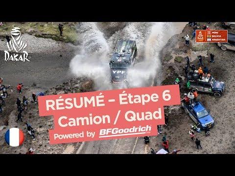 Résumé - Camion/Quad/SxS - Étape 6 (Arequipa / La Paz) - Dakar 2018