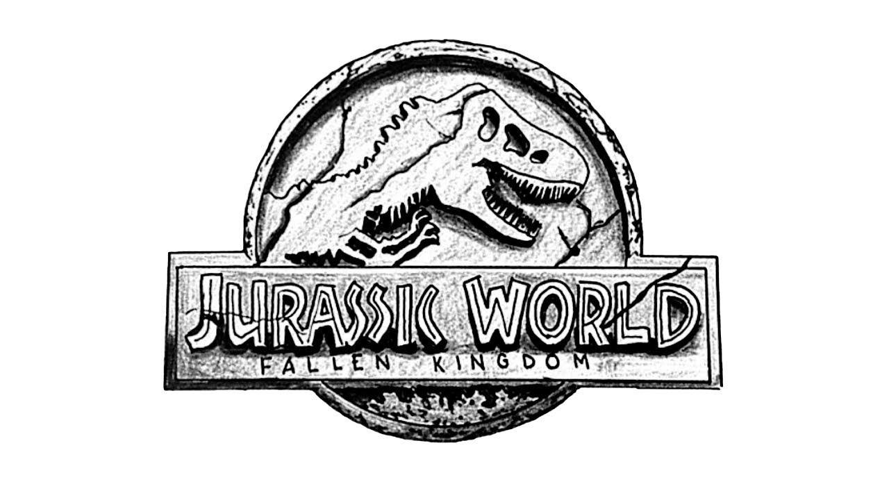 How To Draw The Jurassic World Fallen Kingdom 2018 Logo Youtube