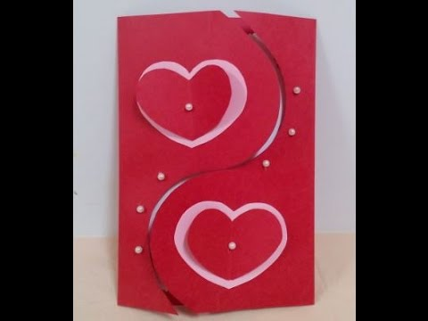 How to Make Handmade Valentines Card  DIY  Tutorial   YouTube