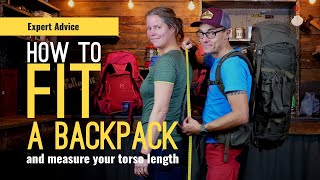 HOW TO FIT A BACĶPACK AND HOW TO MEASURE TORSO SIZE   EXPERT ADVICE