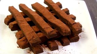 2 or 3 ingredients Orenge Choco Fudge (No Talk No BGM 34)
