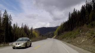 Driving in BC Province (British Columbia) Canada - Between Castlegar & Grand Forks