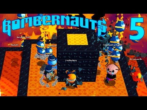 [5] 16 Player Fan Round RUMBLE!!! (Let's Play Bombernauts Multiplayer)