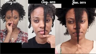 1 Year Natural Hair Growth (4C Hair)