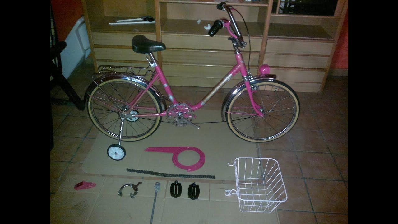 Tunear Bicicleta De Niño: Restaurar Bicicleta Antigua Color Roja, Cambio De Imagen A