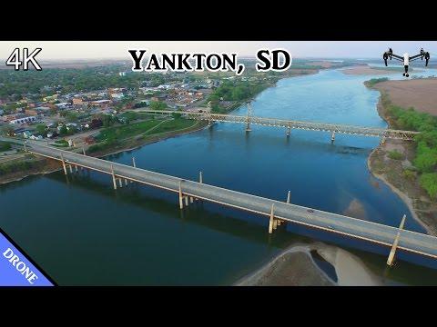Yankton, SD & River Flyover - DJI Inspire (4K)