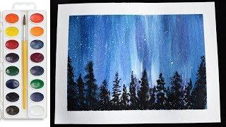 sky watercolor night tutorial beginners