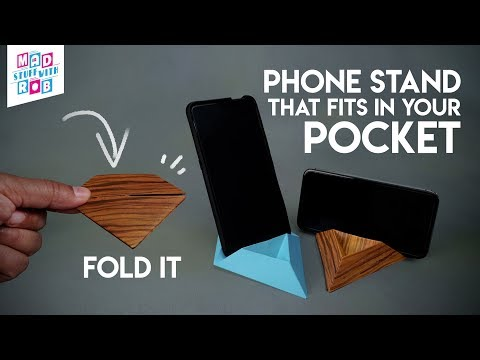 A carry in your POCKET Phone stand   Origami   In HINDI