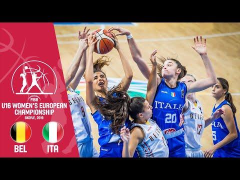 Belgium V Italy - Full Game - FIBA U16 Women's European Championship 2019