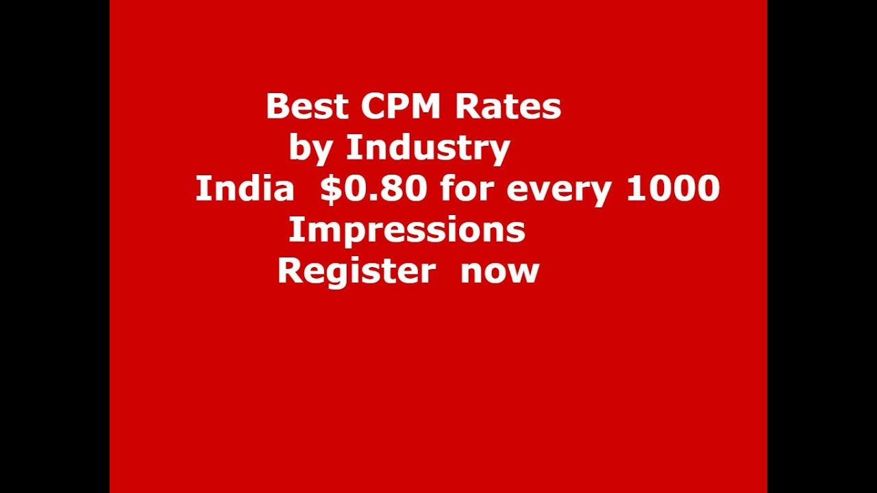 Fidelity media cpm rates by industry