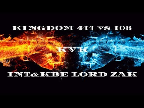 Clash of Kings: kvk 411 vs 108! INT and KBE Alliance Lord Zak (2019)