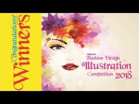 Winners of Sahasrar Fashion Design Illustration Competition 2018 by Sahasrar Design Academy