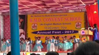 annual function of bmd convent school performed by anjika