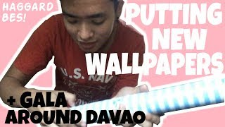 GALA AROUND DAVAO + PUTTING NEW WALLPAPERS   YamyamyamVlog#8