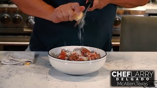 Chef Larry Delgado Shares his Meatball Recipe at Home