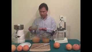 Manual Citrus Press vs Electric Citrus Reamer Orange Juice Off