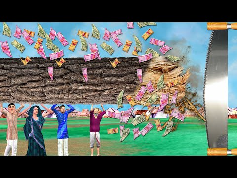 विशाल लकड़ी काटने आरा मशीन Giant Wood Cutting SawMill Comedy Video Hindi Kahaniya हिंदी कहानिय Video