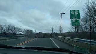 Driving from Monson Massachusetts to Palmer Massachusetts
