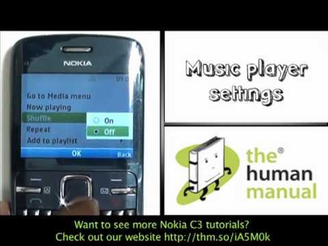 Music player | Nokia C3 | The Human Manual