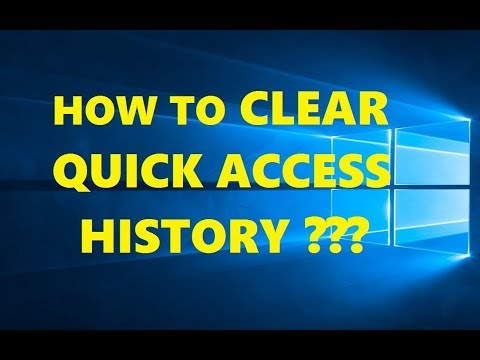How to Clear Quick Access History on Windows 10 | Disable Quick Access