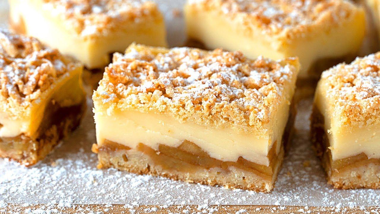 Cuando quiero agasajar es la TARTA que elijo hacer! Manzana, crema y masa de galleta! FÁCIL y rico!