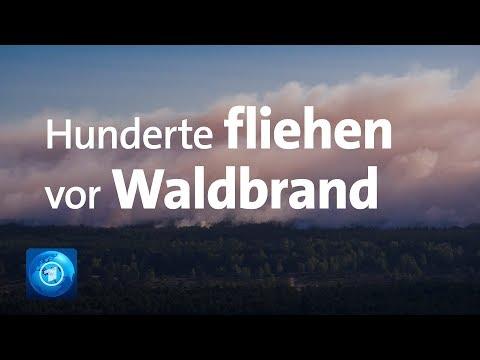Katastrophenalarm in Mecklenburg-Vorpommern: Waldbrand bedroht Dörfer