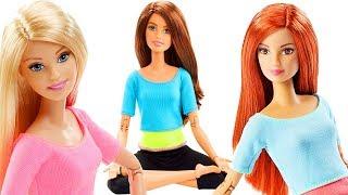 Барби Безграничные движения Рыжая Брюнетка Блондинка Barbie Made To Move Распаковка #МалинкиDOLL