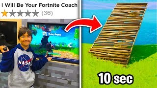I Hired The WORST Reviewed Coach.. (Fortnite)