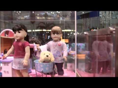 Juliet Visits American Girl Place With Bitty Twin