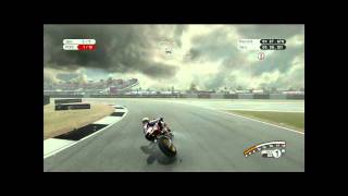 MotoGP 08 - Xbox 360. Under the rain at donington park