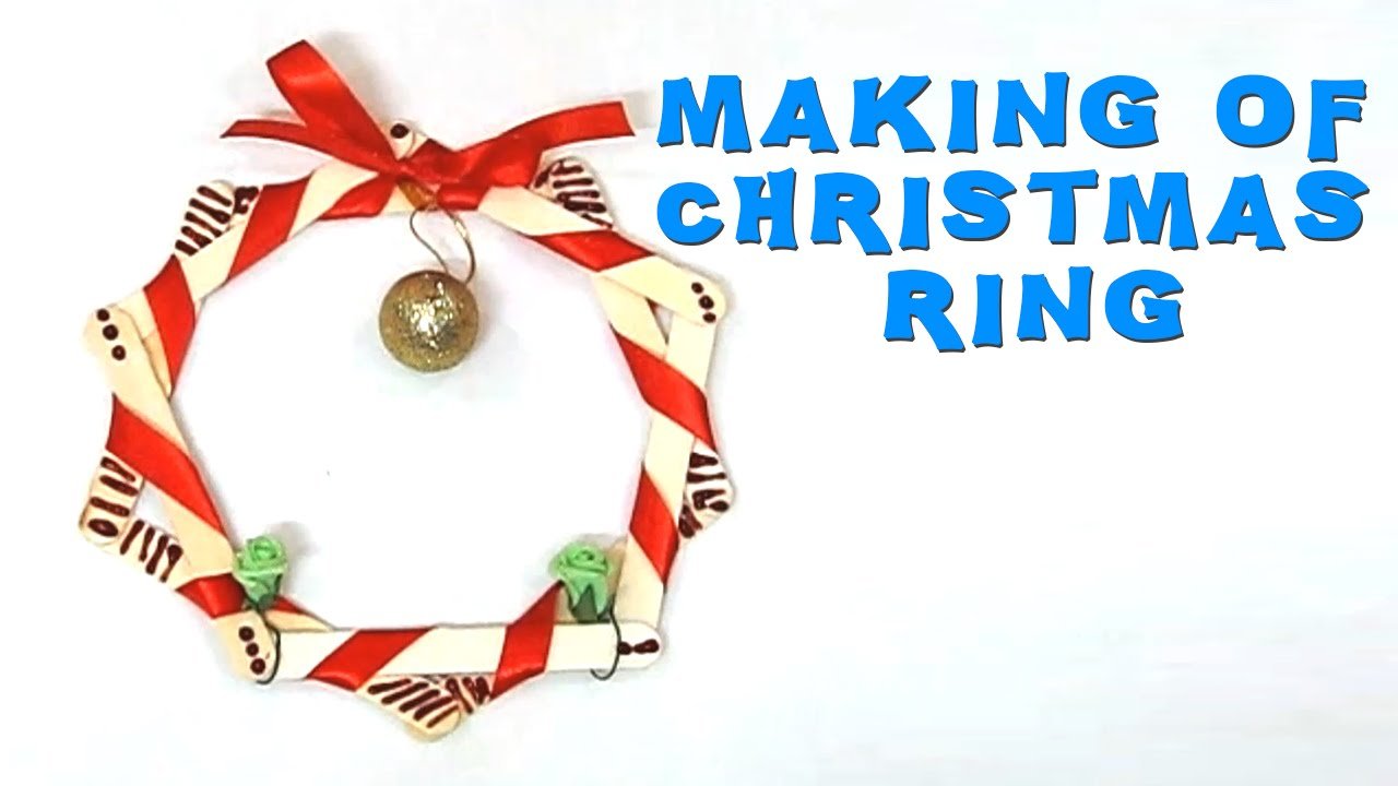 Christmas Ring.Diy Crafts How To Make Christmas Ring