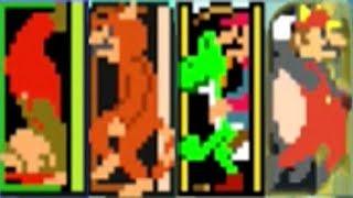 Super Mario Maker - All Weird Mario Power-Ups & Poses (Warp Door)