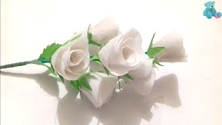 कैरी बैग से गुलाब का फूल बनाने का तरीका