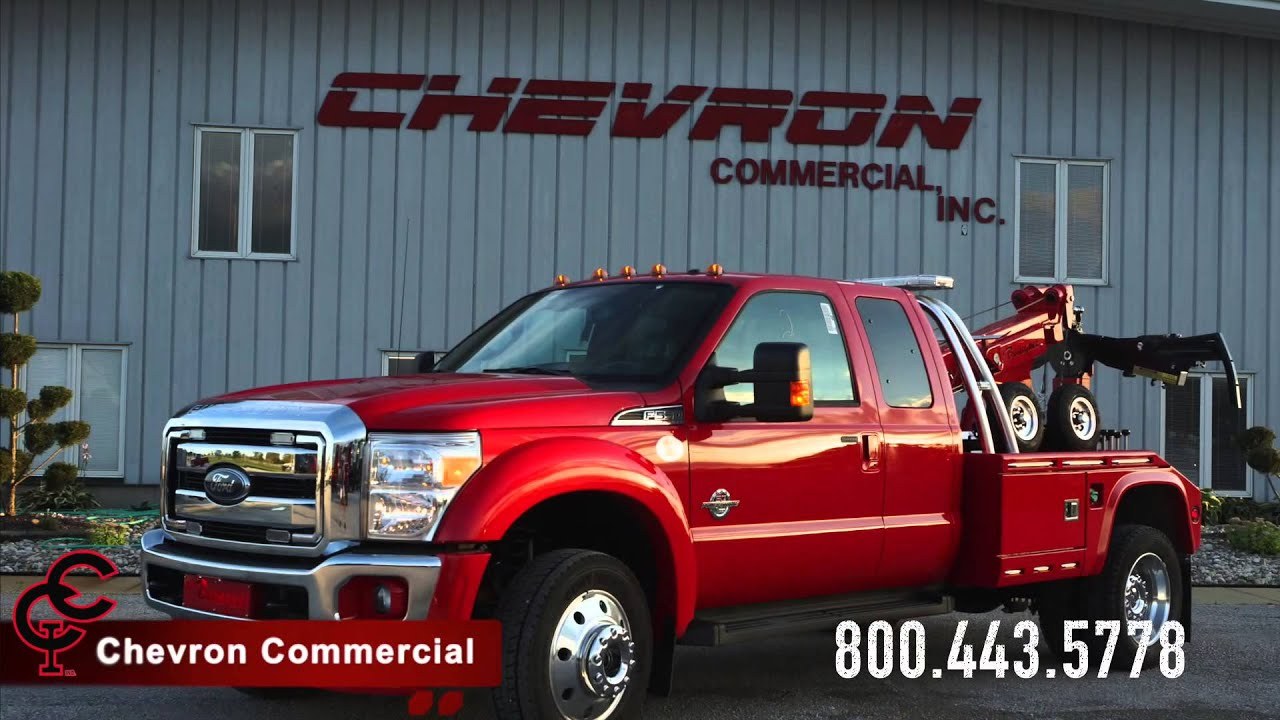 Red Ford F550 Super Cab 4x4 w/ Chevron Renegade 408TA Lt ...