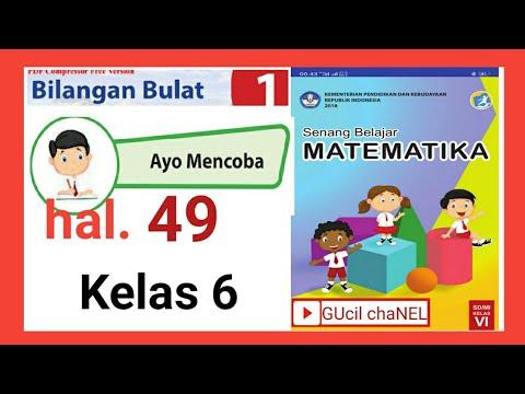 Ayo Mencoba Halaman 49 Pembagian Bilangan Bulat Matematika Kelas 6 Sd Youtube