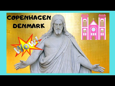 COPENHAGEN, the magnificent statues of the CATHEDRAL (DENMARK)