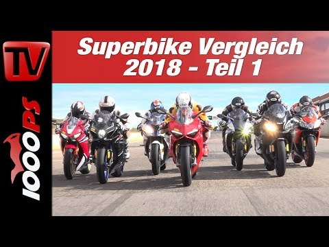 Superbike Vergleichstest 2018 - MOTORRAD und PS testen auf der Rennstrecke