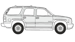 How to Draw a Chevrolet Tahoe / Как нарисовать Chevrolet Tahoe