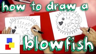 How To Draw A Blowfish (Pufferfish)