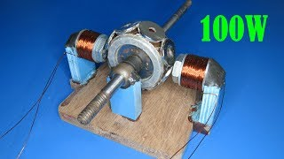How to make 100W  Generator low RPM