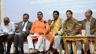 Dr. P Shyamalananda Prasad Ashtavadhanam2 at UKTA 4th World Telugu Literature Conference in London