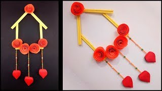 How to Make Easy and Simple Handmade Wall Hanging Paper Craft : DIY Paper Crafts