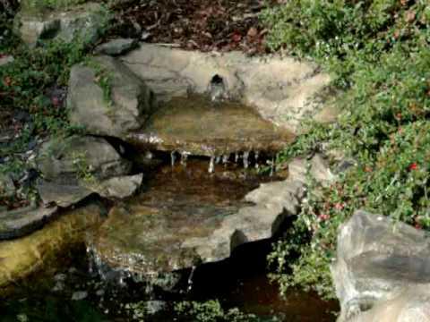 Wasserfall gebirgsbach mit beleuchtung teichfolien for Teichanlage selber bauen